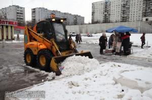 Снегоуборочная техника на улицах Южного округа