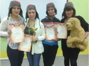 Команда «Четыре танкистки и собака» из школы №1375