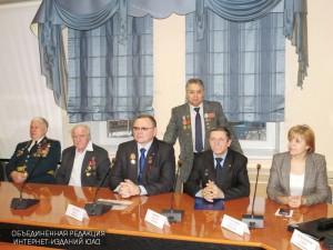 Награждение участников ликвидации аварии на Чернобыльской АЭС медалями МЧС России в конференц-зале префектуры Южного округа
