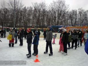 Массовое катание на коньках в Южном округе