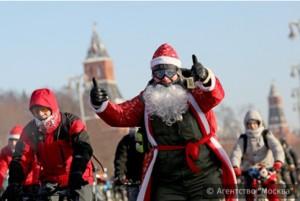 Более 500 москвичей приняли участие во втором столичном зимнем велопараде