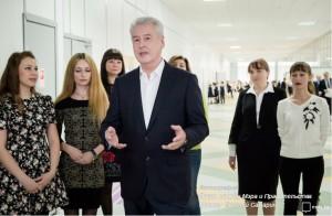 Сергей Собянин в ходе осмотра нового жилого квартала «Вершинино» с начальной школой и дошкольным отделением