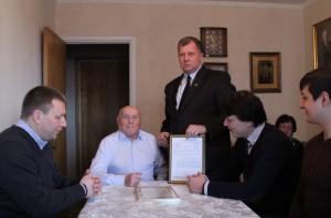 100-летие отпраздновал разведчик и житель Южного округа Алексей Ботян