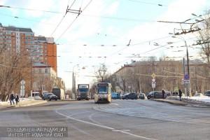 Трамвайные пути на Нагатинской улице