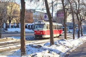 Трамвай на Нагатинской улице