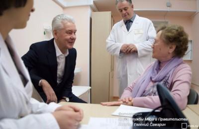 Собянин оценил пилотный проект дистанционной помощи пожилым пациентам