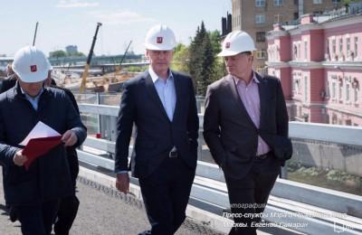 Собянин осмотрел ход строительства участка СВХ