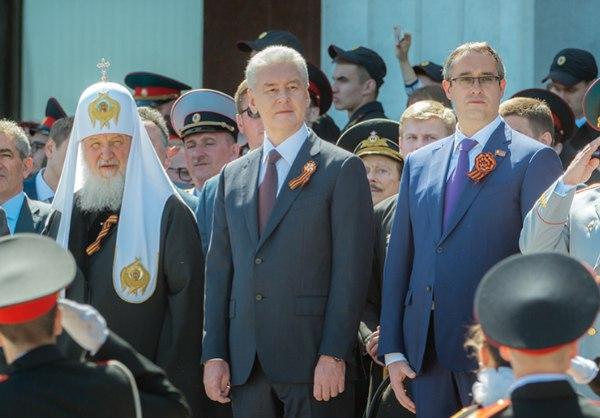 Сергей Собянин на параде кадет