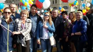 Представители муниципального округа Нагатино-Садовники на первомайском шествии