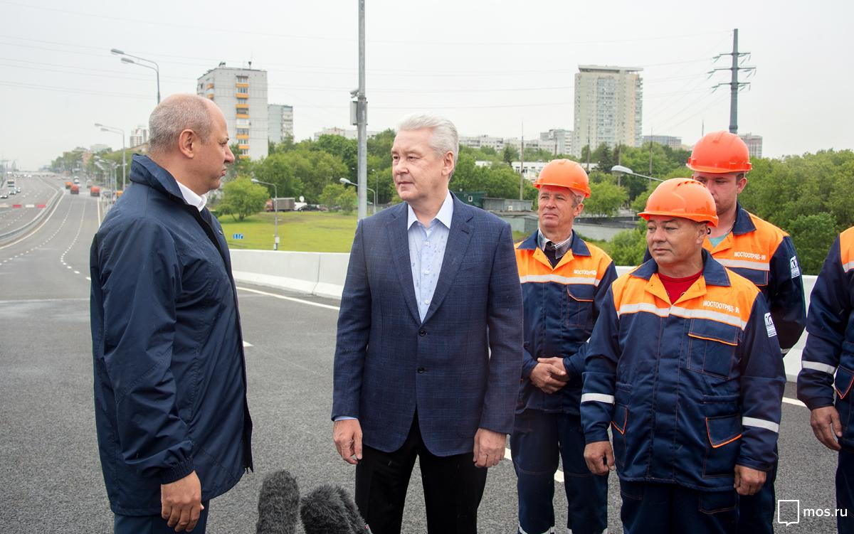 Сергей Собянин открыл после реконструкции движение по Аминьевскому шоссе