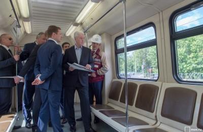 Собянин осмотрел ход работ по капремонту Филевской линии метро