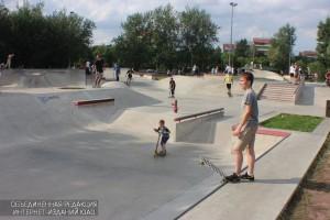 """Скейтеры в парке """"Садовники"""""""