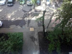 Двор после уборки