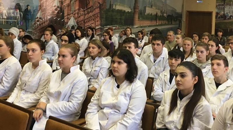 Студенты Медицинского колледжа на концерте