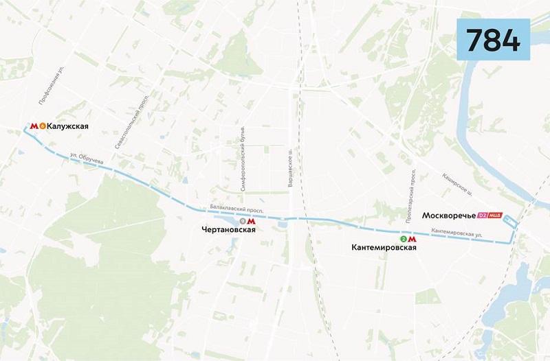 БКЛ, маршрут 784, Мосгортранс, МЦД-2