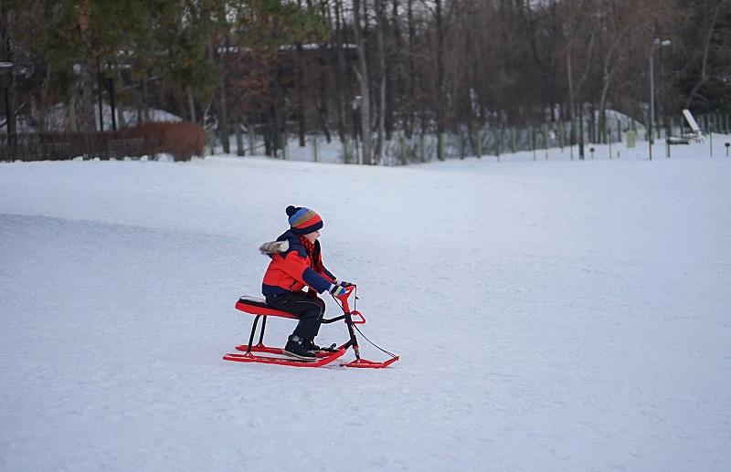 парк «Садовники», тюбинговая горка, Московское долголетие, беговые лыжи, прокат