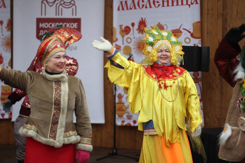 Веселая Масленица «Московского долголетия» прошла в Нагатине-Садовниках