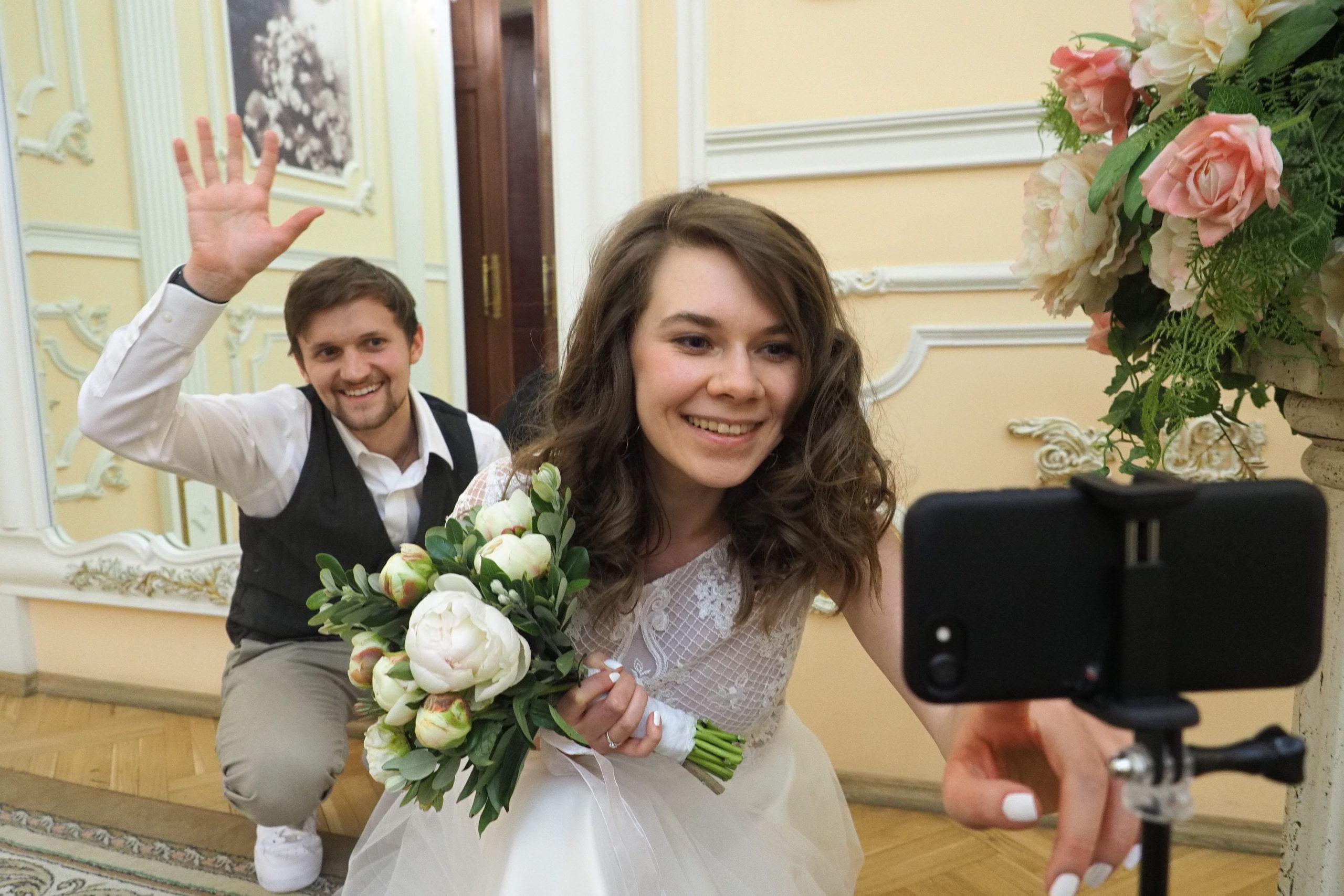 Столичные ЗАГСы привели статистику бракосочетаний в новогодние праздники. Фото: Павел Волков, «Вечерняя Москва»
